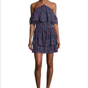Paige Darya Floral Print Silk Mini Dress